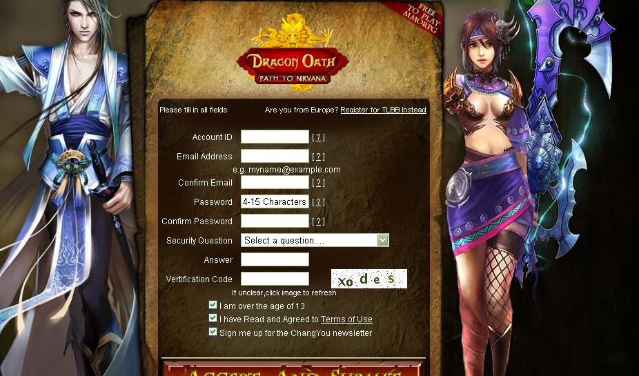 do210 - لعبة Dragon Oath الاونلاين الجديدة