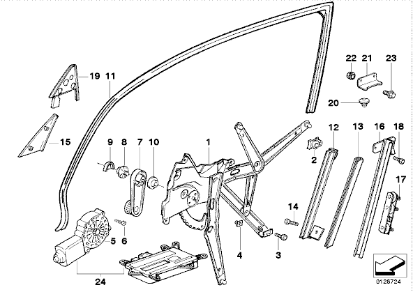Portiere manuel page 1 for 2002 bmw 325i window regulator