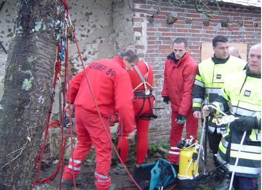 Préparation du sauvetage