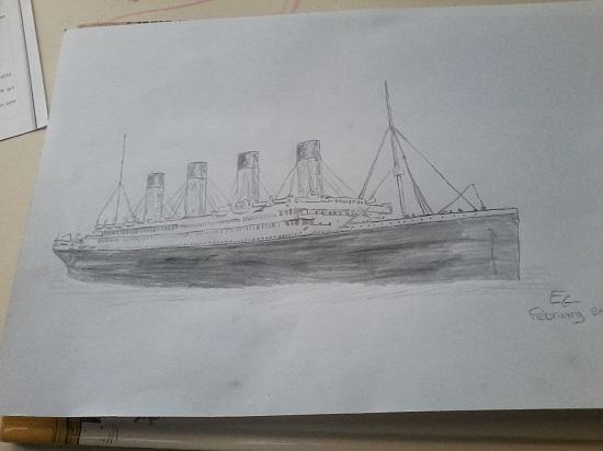 dessin qui est arriv dans les mains de christine chrisanderson38 hier - Dessin Titanic