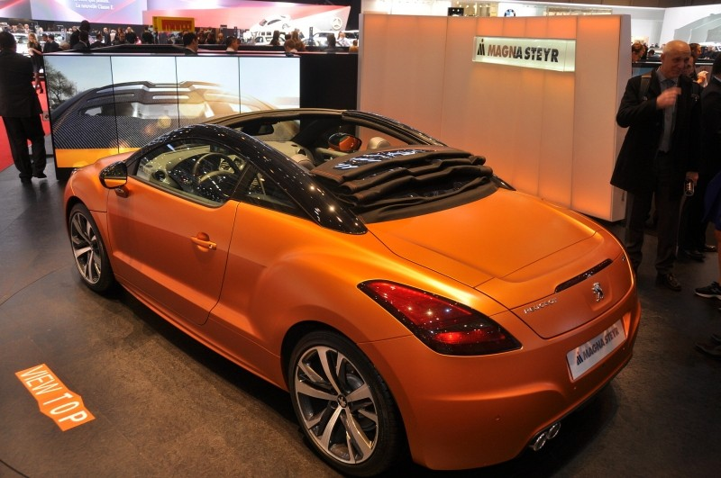 2013 peugeot rcz cabriolet concept magna steyr. Black Bedroom Furniture Sets. Home Design Ideas