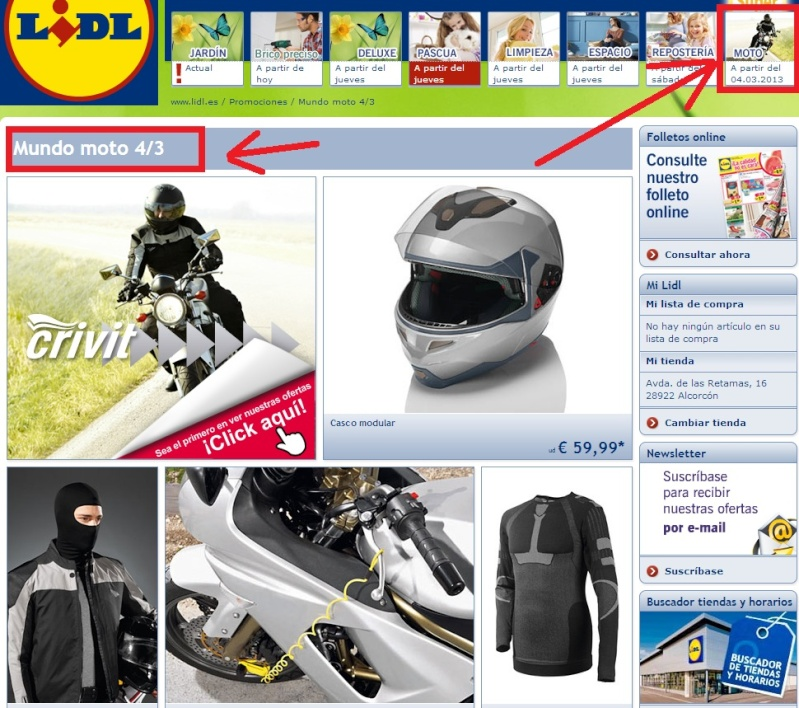 Scootermotor es view topic ofertas articulos motos y for Ofertas del lidl para hoy
