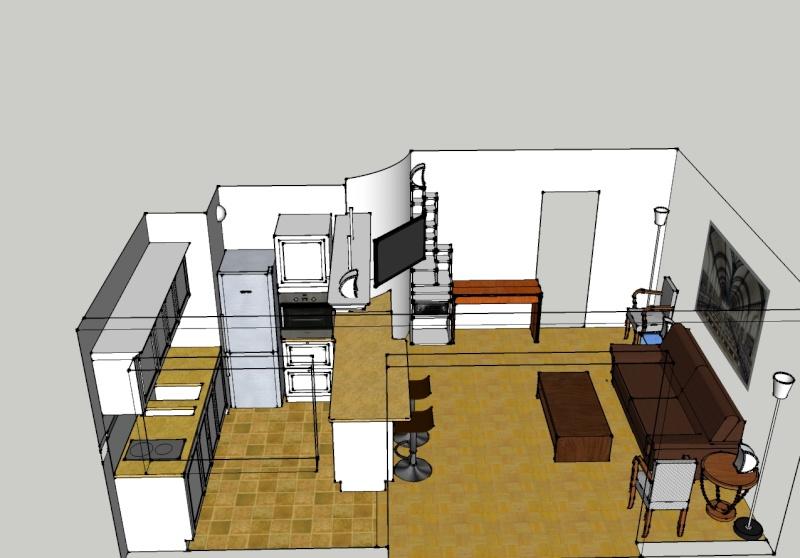 Plan Salon Cuisine Ouverte  Cuisine En Image