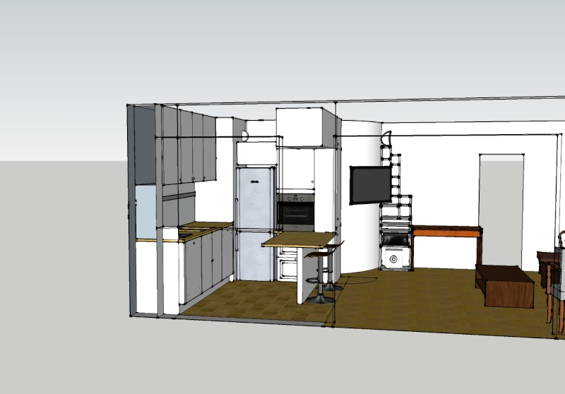 plan de cuisine ouverte sur salon ao23 jornalagora. Black Bedroom Furniture Sets. Home Design Ideas